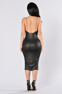 To The Point Dress - Black Angle 2