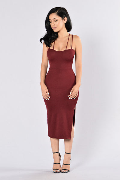 X Files Dress - Burgundy