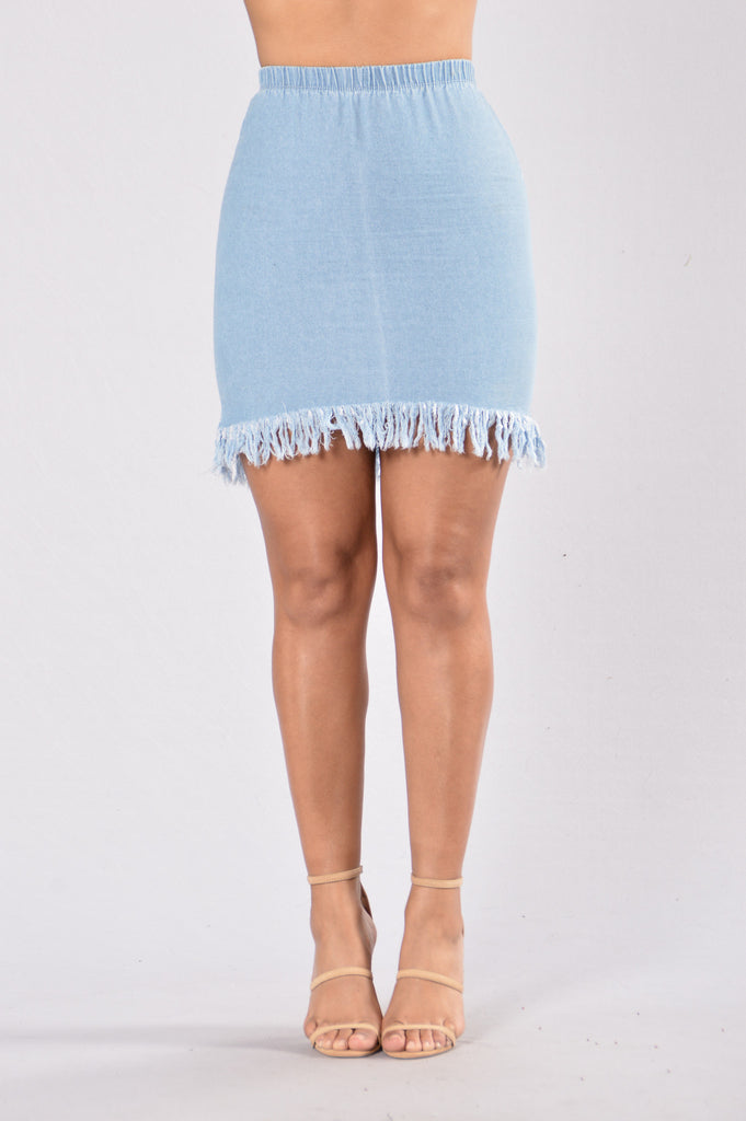 Rough Around The Edges Skirt - Denim