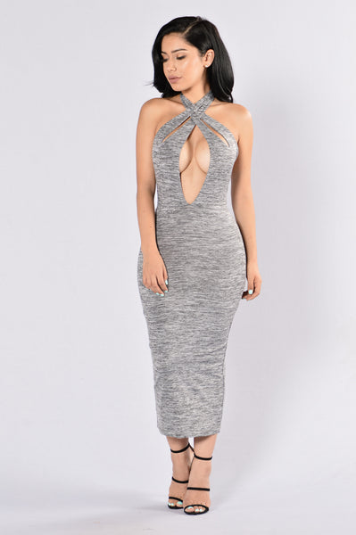 Hold Me Dress - Grey