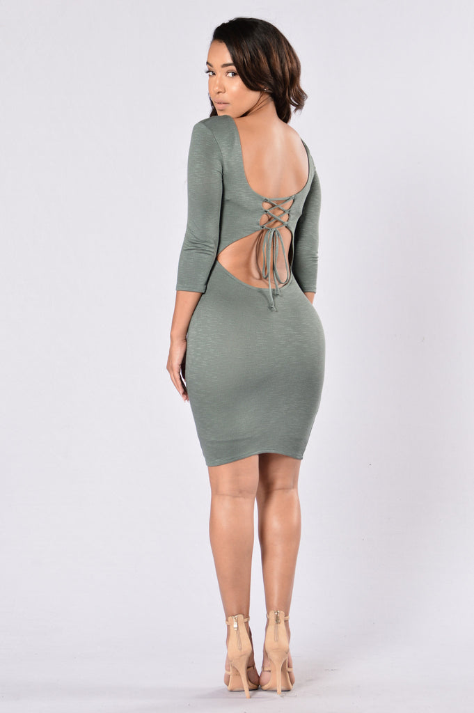Hotel California Dress - Olive