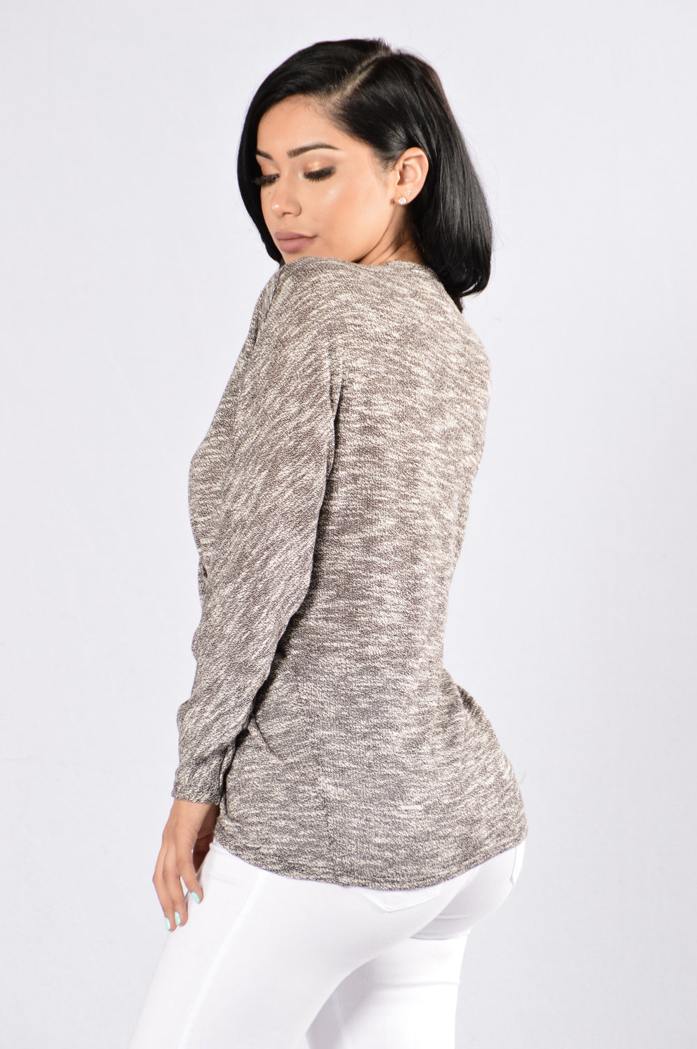 Deal Or No Deal Top - Heather Grey