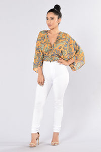 Groovy Top - Mustard Angle 4