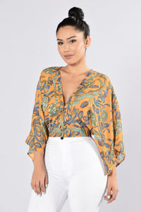 Groovy Top - Mustard Angle 1
