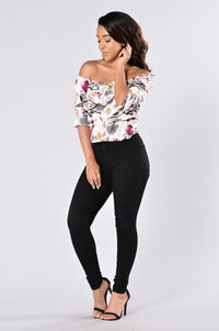Forest Flower Top - Grey