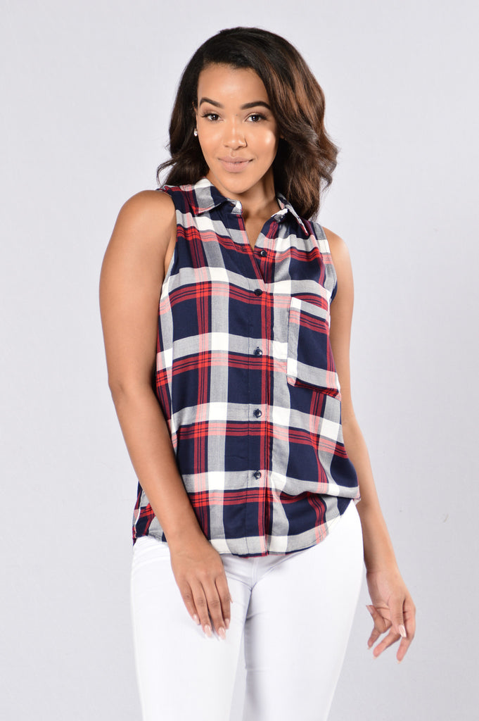 Perfect Plaid Top - Red