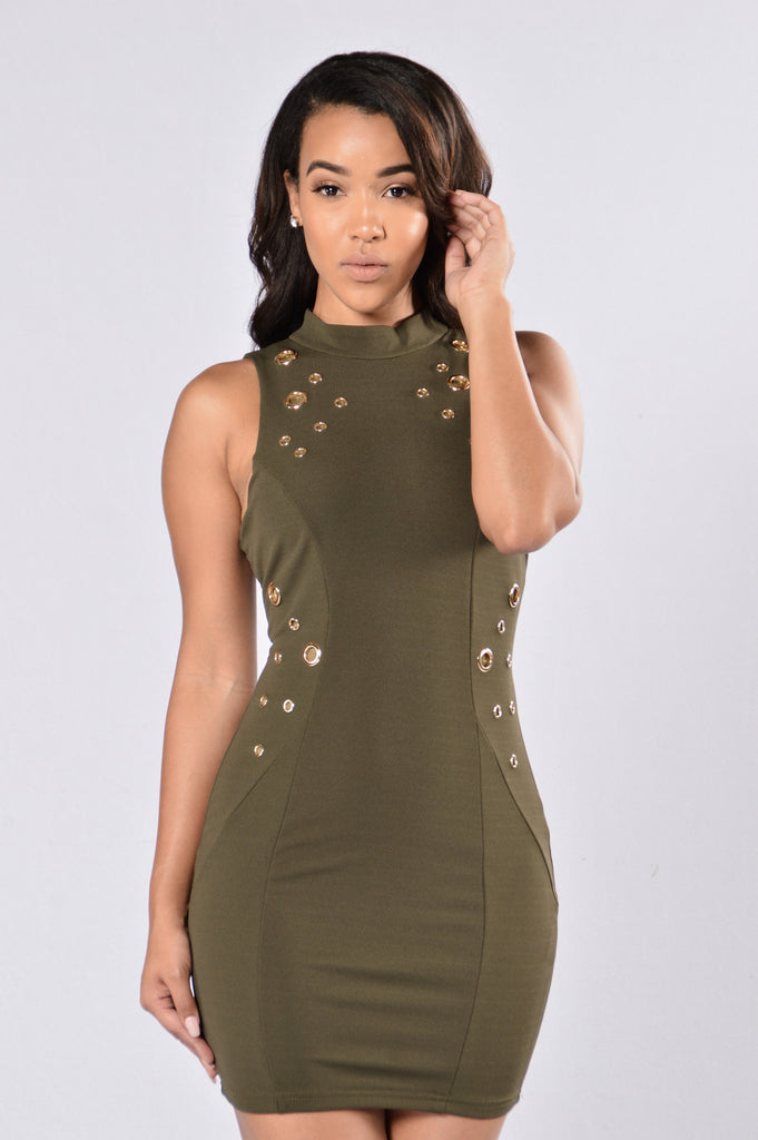 Holy Smokes Dress - Olive