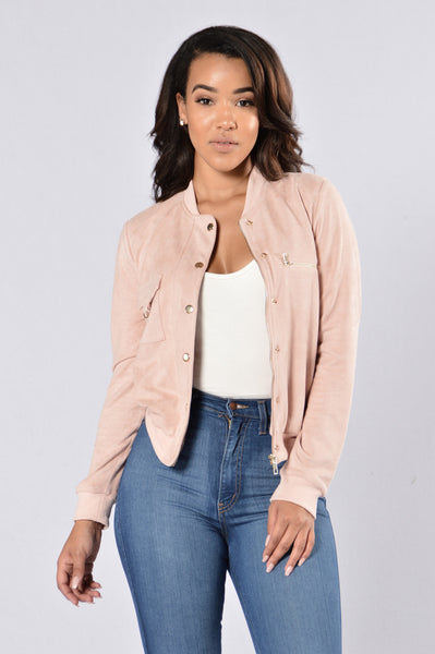 On My Way Jacket - Mauve