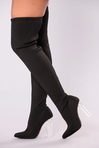 Olivia Over The Knee Boot - Black