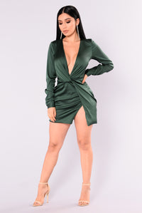Sugar Free Dress - Hunter Green Angle 2