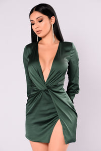 Sugar Free Dress - Hunter Green Angle 3