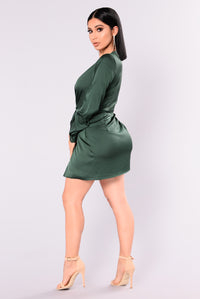 Sugar Free Dress - Hunter Green Angle 5