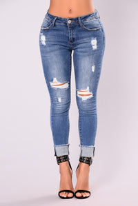 Tutti Frutti Ankle Jeans - Medium Blue Wash
