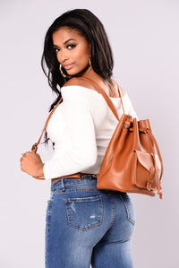 Take It Easy Crossbody Bag - Tan Angle 1