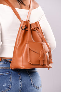 Take It Easy Crossbody Bag - Tan Angle 2