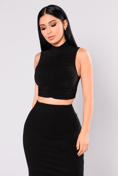 Not About You Top - Black