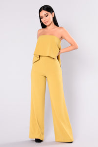 Need Me Baby Tube Jumpsuit - Mustard Angle 1