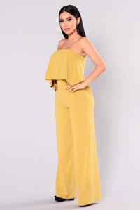 Need Me Baby Tube Jumpsuit - Mustard Angle 3