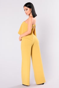 Need Me Baby Tube Jumpsuit - Mustard Angle 4