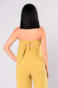 Need Me Baby Tube Jumpsuit - Mustard Angle 5