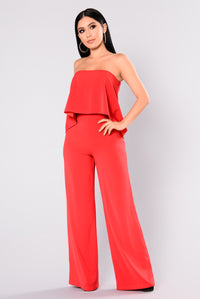 Need Me Baby Tube Jumpsuit - Red Angle 1