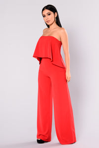 Need Me Baby Tube Jumpsuit - Red Angle 3