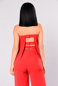 Need Me Baby Tube Jumpsuit - Red Angle 4