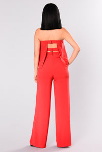 Need Me Baby Tube Jumpsuit - Red Angle 5
