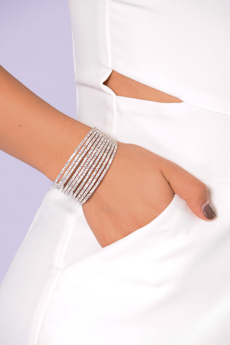Diamonds Or Nothing Bracelet - Silver