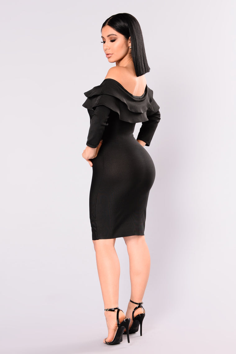 Anastasia Bandage Dress - Black