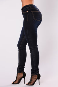 Romantique Skinny Jeans - Dark Denim