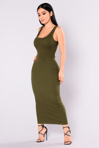 Mulberry Midi Dress - Olive