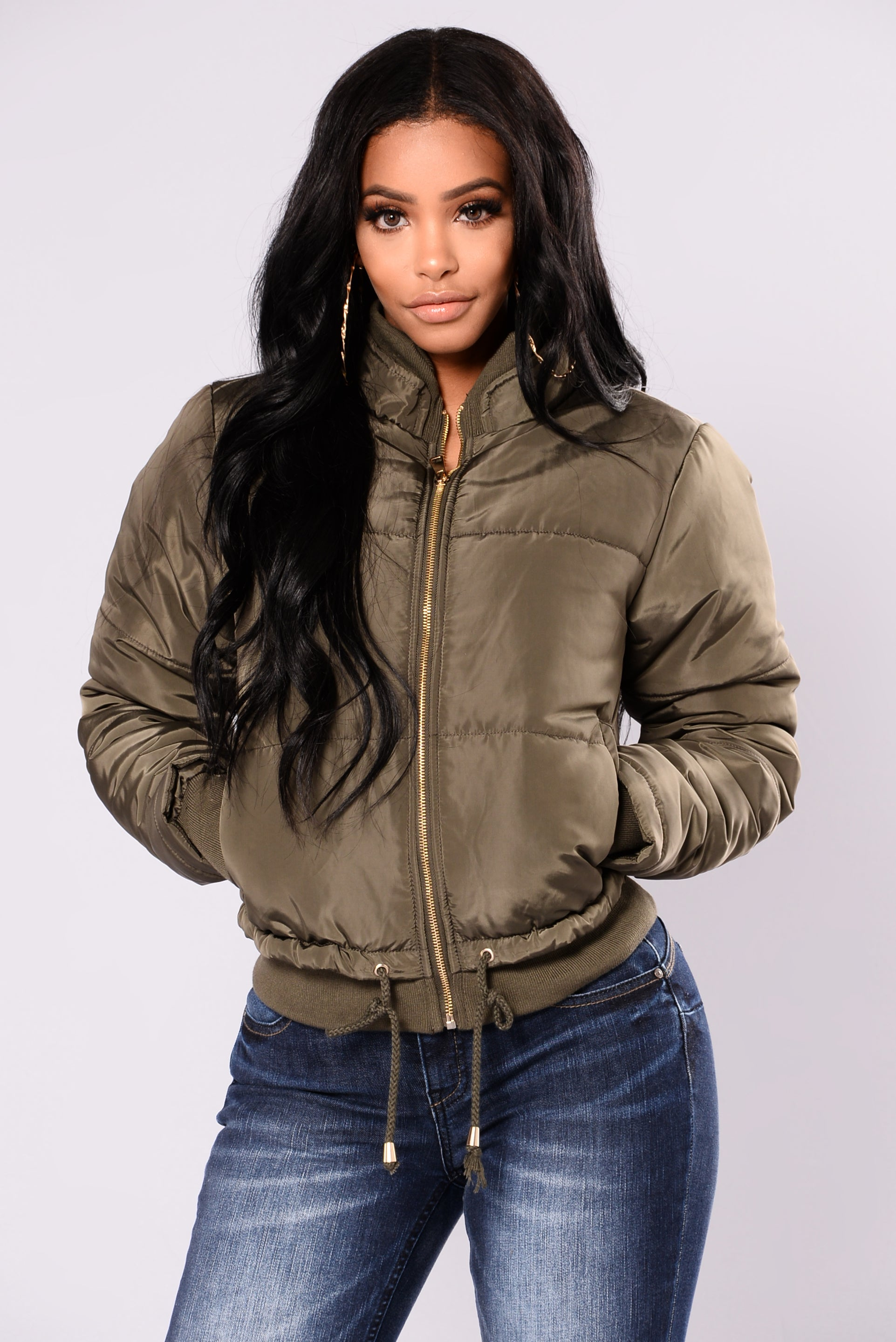 Moonwalk Puffer Jacket Olive