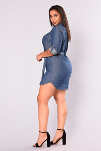 Hartley Chambray Dress - Dark Denim