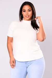 Timeline Ribbed Top - Ivory