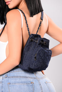 Denim On The Go Backpack - Dark Denim