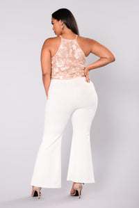 Xixi Wide Leg Pants - Ivory
