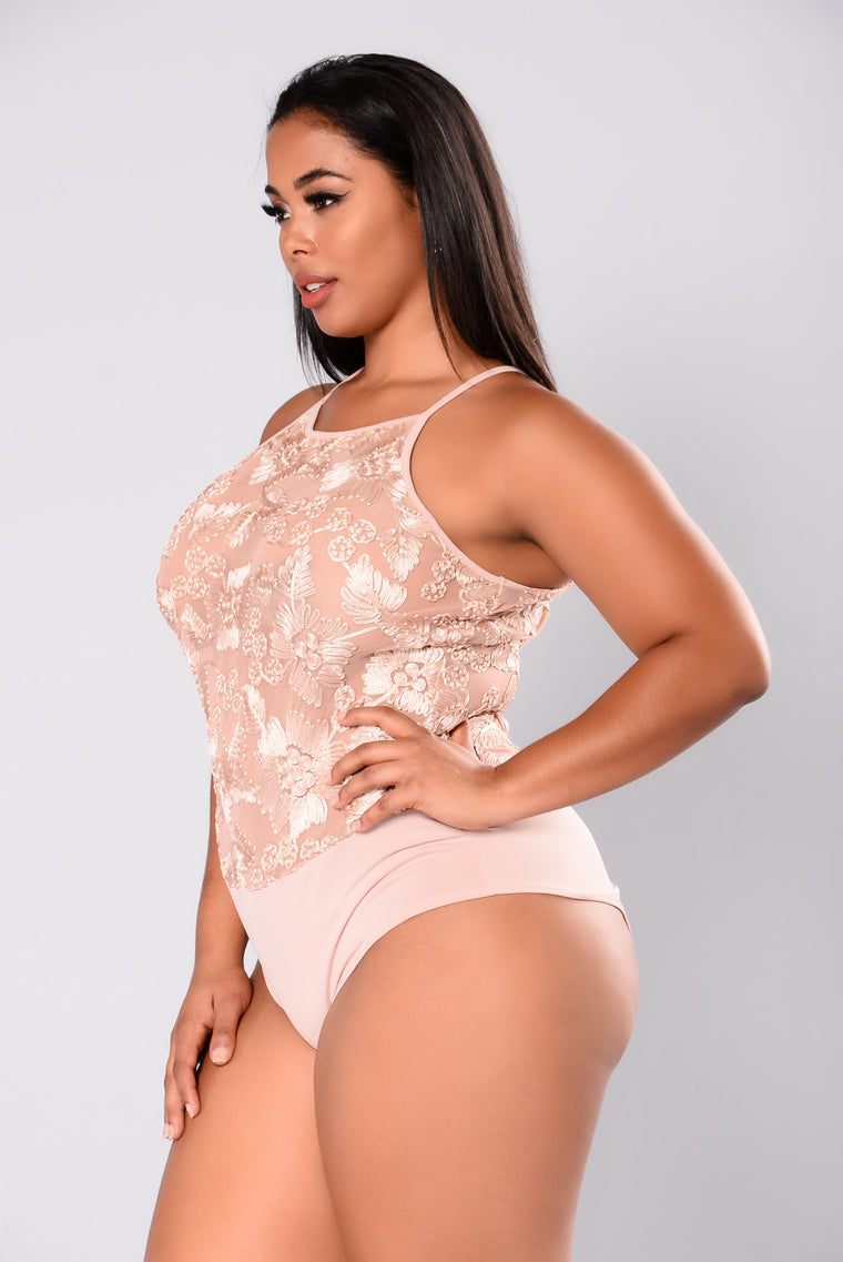 Find Some Time Bodysuit - Nude
