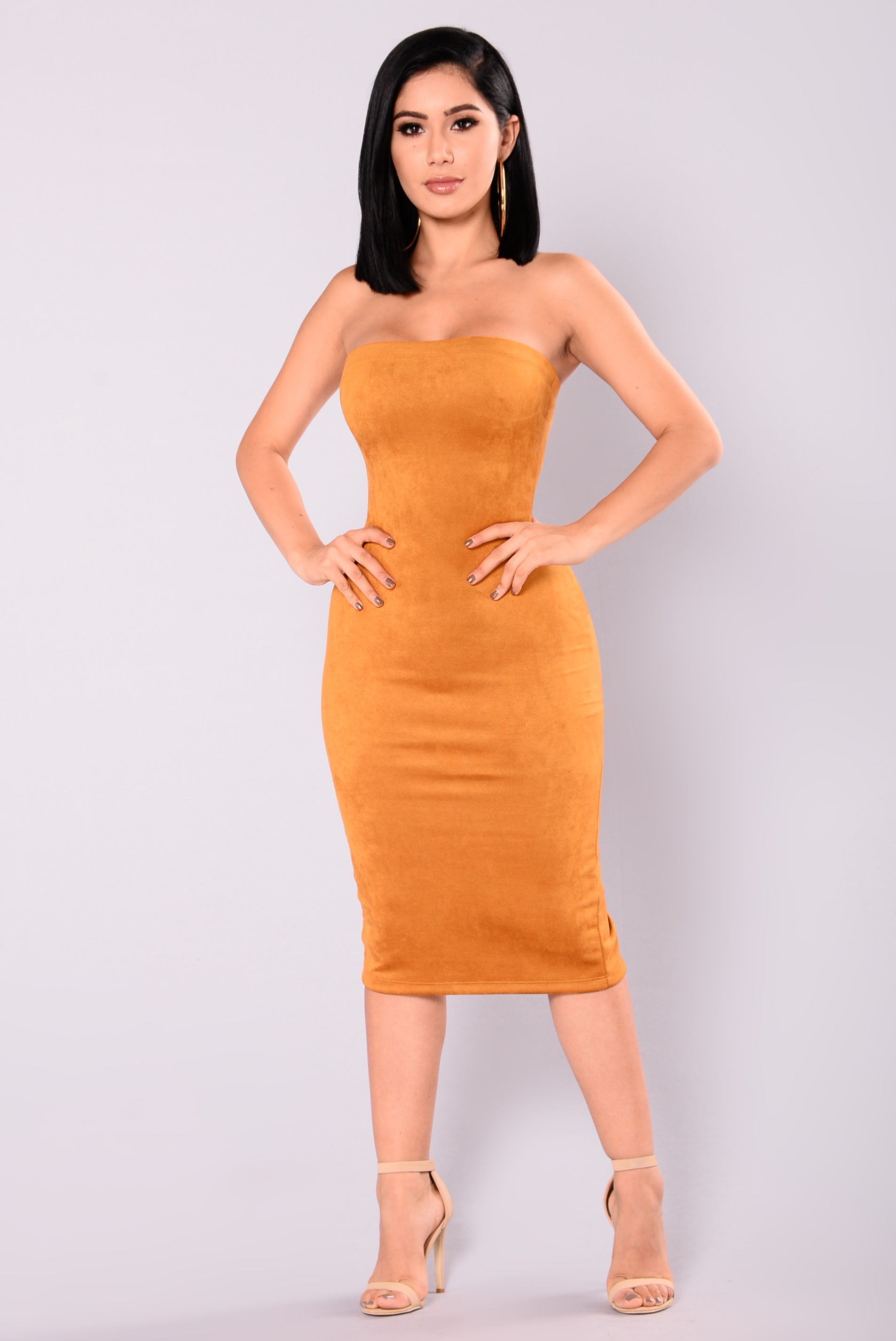 Little Thrills Suede Dress Mustard