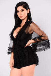 New Yorker Mesh Romper - Black