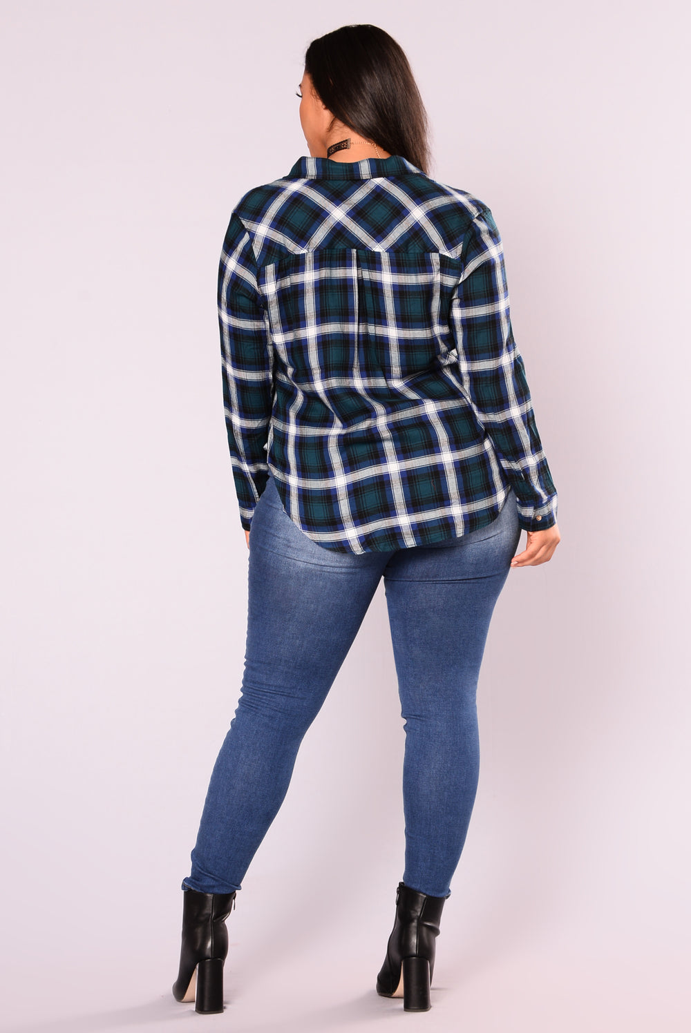 Bryson Plaid Top - Green