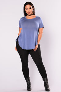 Laid Back Tee - Dark Denim Angle 2