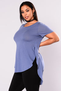 Laid Back Tee - Dark Denim Angle 3