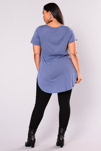 Laid Back Tee - Dark Denim Angle 4