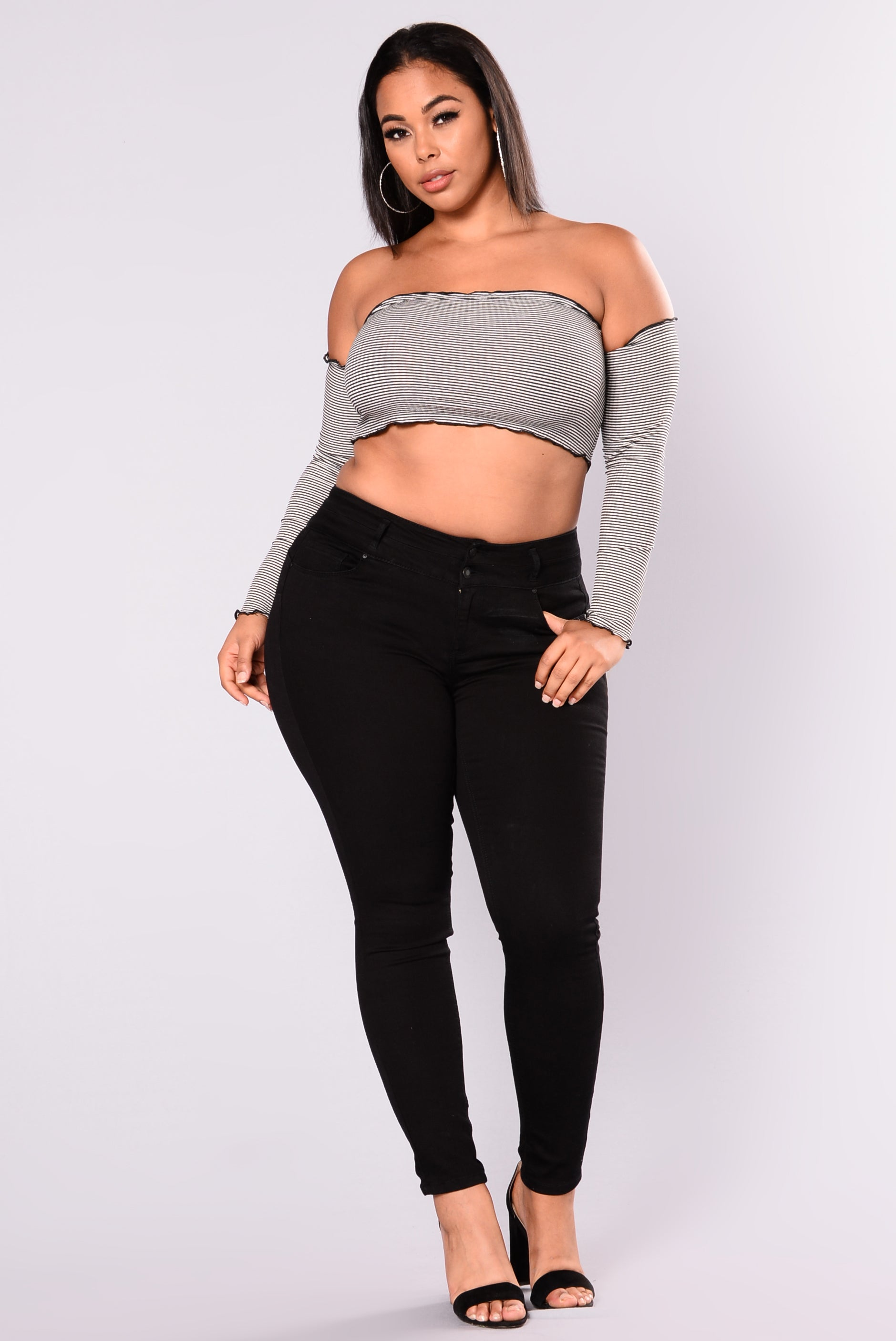 Body Right Booty Shaping Jeans Ii - Black-8336