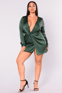 Sugar Free Dress - Hunter Green Angle 8