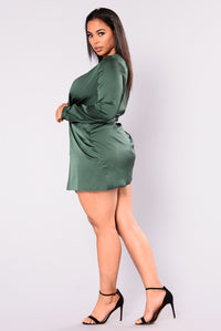Sugar Free Dress - Hunter Green Angle 9