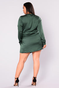 Sugar Free Dress - Hunter Green Angle 7