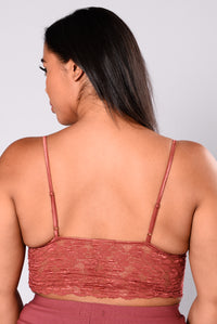 No Restrictions Lace Bralette - Rust