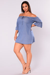 Always Into You Dress - Denim